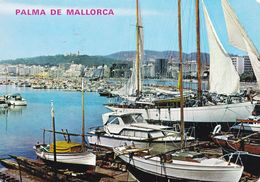 Espagne Palma De Mallorca Vista Parcial De La Bahia (2 Scans) - Palma De Mallorca