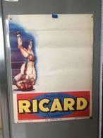 """Affiche Vierge Pour """" Ricard """"Illustration Scène De Catch - Afiches"""