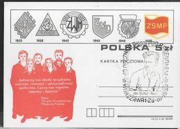 """POLSKA - ANNULLO SPECIALE """"40 POCZNICA .... -26.III.1963 SI CARTOLINA POSTALE (CATALOGO MICHEL P850) - 1944-.... Republic"""