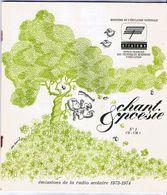 Chant Et Poèsie N°1 CE - CM1  Emissions De Le Radio Scolaire 1973 - 1974 Ofrateme Education Nationale - Libros, Revistas, Cómics
