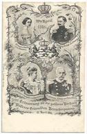 Luxembourg - Famille Grand Ducale - Souvenir De L'anniversaire De Mariage En Or Du Couple 23 Avril 1901 - Familia Real