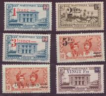 ⭐ Martinique - YT N° 220 à 225 ** - Neuf Sans Charnière - 1945 / 1946 ⭐ - Unused Stamps