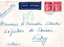 """L-  """" Ministre STUCKI, Légation De Suisse """" à VICHY- - Guerra Del 1939-45"""