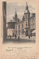 Binche , Hotel Des Postes Et Choeur De L'Eglise Du T.S. Sacrement ,(édit : Ad. Eyckmans - Sebille ) COULEUR ) - Binche