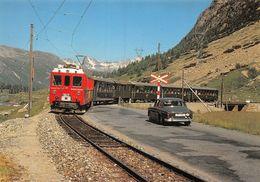 BVA - Station Bernina-Suot ABe 4/4 46 - Rhätische Bahn - RhB - R.h.B. Ligne De Chemin De Fer Train - Oldtimer - GR Grisons