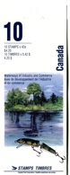 RC 17785 CANADA BK145 RIVIÈRES ISSUE CARNET COMPLET NON COLLÉ OUVERT NOT GLUD OPEN BOOKLET NEUF ** TB MNH VF - Full Booklets