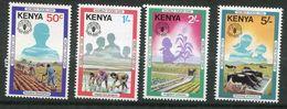 ** Kenia  N° 203 à 206   Contre La Faim - Against Starve