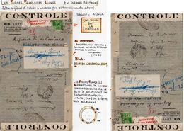 """L- """"Plusieurs Cachets: BCM 7- Censure:T.A 317-  """" - Guerra Del 1939-45"""