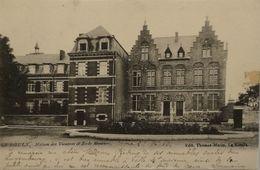 Le Roeulx //  Maison Des Vicaires Et Ecole Moyenne 1903 Tape Rest! - Le Roeulx