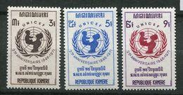 ** Rep Khmere N° 284 à 286    Contre La Faim - Against Starve