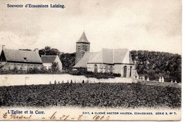 Ecaussines Lalaing - Eglise Et Cure En 1908 - Ecaussinnes
