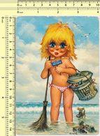 Illustrateur Michel Thomas - Enfants Fillette Nu Protection De La Nature 1973, Helvetia Stamp Old Photo Postcard Rppc Pc - Thomas