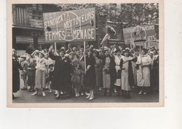 PHOTO MOUVEMENT OUVRIERS DEFILE DU FRONT POPULAIRE 14 JUIL1936  DES FEMMES ENCOLERES - Photos