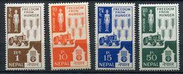 * Népal N° 152 à 155   Contre La Faim - Against Starve