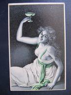 CPA - ILLUSTRATEUR - Henrich SUSEMIHL - FEMME  - COUPE DE CHAMPAGNE - ART NOUVEAU - Illustrators & Photographers