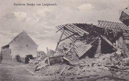 Langemark- Zerstorte Strfze Von Langemark Feldpoffkarte - - Nr 4/50 - Langemark-Poelkapelle