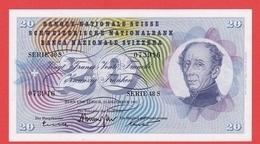 SUISSE  Billet  20 Francs 23 12 1965  - Pick 46m UNC - Svizzera