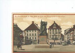 LA CHAUX DE FONDS  LA PLACE DE L'HOTEL DE VILLE AVEC MONUMENT - Suisse