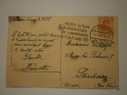 Flamme Foire Commerciale De Luxembourg 1925 Sur Carte Du Pont Adolphe (9169) - Marcophilie - EMA (Empreintes Machines)