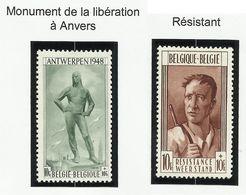 Belgique N° 785 Et 786 * Neuf Avec Charnière De 1948 - Neufs