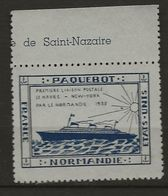 Vignette  Normandie 1935  Dentelé - Otros