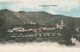 UN SALUTO DA SALTRIO PANORAMICA ANNO 1909 VIAGGIATA FORMATO PICCOLO - Varese