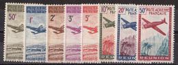 ⭐ Réunion - Poste Aérienne - YT N° 10 à 17 ** - Neuf Sans Charnière - TB - 1942 ⭐ - Luftpost