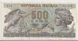 ITALY  P. 93a 500 L 1970 VF - 500 Lire