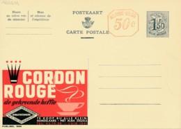Publibel 1666M – Café Cordon Rouge, Tasse De Café Fumantes - Entiers Postaux