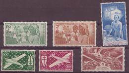 ⭐ Guadeloupe - Poste Aérienne - YT N° 1 à 6 ** - Neuf Sans Charnière - TB - 1942 / 1946 ⭐ - Poste Aérienne