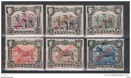 NYASSA:  1911  SOPRASTAMPATI  -  5  VAL. L. + ( 50 R. US.) -  YV/TELL. 52//60 - Nyassa