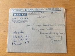 GÄ34796 Siam 1946 Airgram POW-Mail From Nakom Pathom To Bandoeng Java - Siam