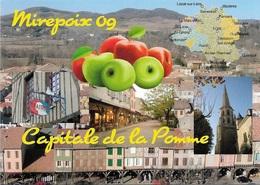 09 - MIREPOIX - Capitale De La Pomme - 3 Vues - Carte Géo Du Département De L'Ariège - Cpm - Vierge - - Mirepoix