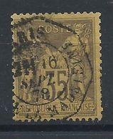 France N°93 Obl (FU) 1878 - Sage Type II (bis) - 1876-1898 Sage (Type II)