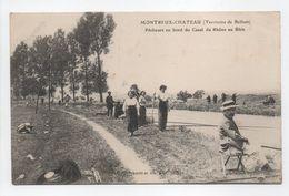 - CPA MONTREUX-CHATEAU (90) - Pêcheurs Au Bord Du Canal Du Rhône Au Rhin 1904 (belle Animation) - - Autres Communes