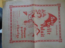Partition Ancienne Son Voile Volait 6 Chansons De Charlys 1929 - Partitions Musicales Anciennes