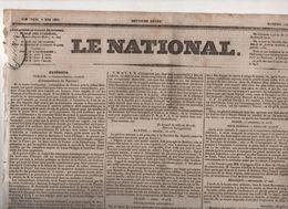 LE NATIONAL 04 05 1831- TURQUIE - ITALIE FAËNZA - POLOGNE - BESANCON - PROCES CONSPIRATION REPUBLICAINE - Zeitungen