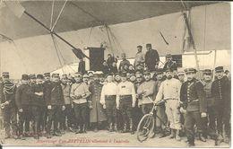 - AEROSTATION - 4 Cartes Postales De L'atterissage Du Zeppelin à LUNEVILLE ' 4 Scans' - Aeronaves