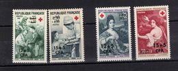 REUNION  Timbres Neufs ** De 1966-1968  ( Ref 1725 E ) Croix-rouge - Unused Stamps
