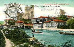 CONSTANTINOPLE = Hotel Continental MEILLEURS VOEUX J Agostini Propriétaire   1535 - Türkei