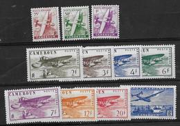 ⭐ Cameroun - Poste Aérienne - YT N° 1 à 11 ** - Neuf Sans Charnière - 1941 ⭐ - Luftpost