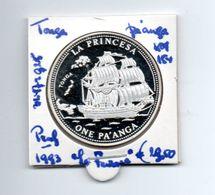 TONGA PA'ANGA 1993 ZILVER PROOF LA PRINCESA SHIP - Tonga
