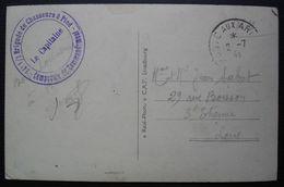 1940 24e 1/2 Brigade De Chasseurs à Pied, Compagnie De Commandement, Carte De Cahors Pour Saint Etienne - Postmark Collection (Covers)