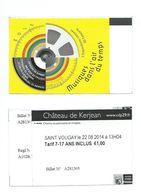 56 T - TICKET D'ENTREE - CHATEAU DE KERJEAN (Finistère) - Tickets D'entrée
