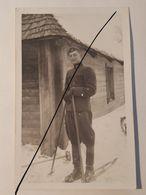 Photo Vintage. Original. Étudiant Forestier Ski. Lettonie D'avant-guerre. - Guerre, Militaire