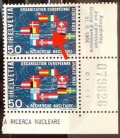 Schweiz Suisse 1966: RECHERCHE NUCLÉAIRE CERN Abart Zu 441.2.01. Mi 835 Yv 768 VARIÉTÉ ** MNH (Zu CHF 7.00) - Atom