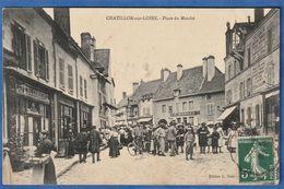 CPA 45 CHATILLON SUR LOIRE - Place Du Marché - Chatillon Sur Loire
