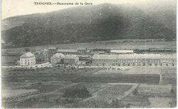 TREIGNES : Panorama De La Gare - TRES RARE VARIANTE - Cachet De La Poste 1920 - Viroinval