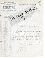 02 - Aisne - ROZET-ST-ALBIN - Facture DELETTRE - Charronnage - 1907 - REF 149A - France