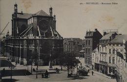 Bruxelles //  Monument Ferrer En Omgeving 19?? Vlekkig - Ohne Zuordnung
